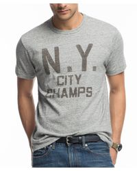 Todd Snyder Gray Ny City Champs T-shirt for men