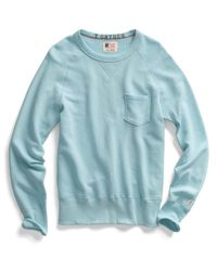 Todd Snyder Blue Vintage Aqua Pocket Sweatshirt for men