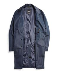 Todd Snyder Blue Trench Coat for men