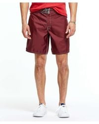 Todd Snyder - Red Exclusive Birdwell Contrast Pocket 311 Board Shorts In Maroon for Men - Lyst