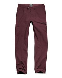Todd Snyder - Purple Hudson Tab Front Chino Pant In Maroon - Lyst