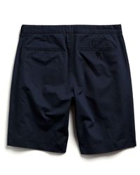Todd Snyder Blue Hudson Tab-front Chino Short In Navy for men