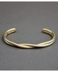 Maxx + Unicorn - Metallic Twisted Cuff In Brass for Men - Lyst