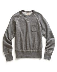 Todd Snyder Gray Classic Pocket Sweatshirt In Salt And Pepper for men