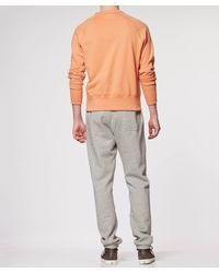 Todd Snyder Orange Pocket Sweatshirt for men