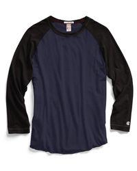 Todd Snyder Baseball T-shirt In Mast Blue for men