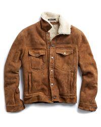 Todd Snyder Brown Dylan Shearling Jacket In Nutmeg for men