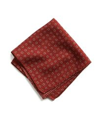 Todd Snyder - Italian Wool Pocket Square In Red Circle for Men - Lyst