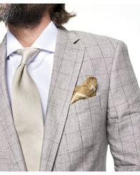 Todd Snyder Gray Sutton Windowpane Linen Suit Jacket In Grey for men