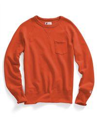 Todd Snyder Classic Pocket Sweatshirt In Rust Orange for men