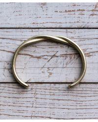 Maxx + Unicorn Metallic Twisted Cuff In Brass for men