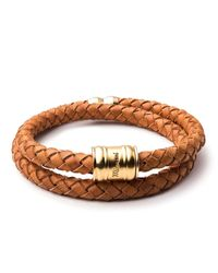 Miansai - Brown Brass Leather Casing Bracelet for Men - Lyst