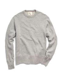 Todd Snyder Gray Crewneck Sweatshirt In Grey Snow Heather for men