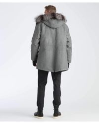 Todd Snyder Gray Bonded Wool Summit Parka In Grey for men