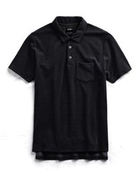 Todd Snyder Terry Polo In Black for men