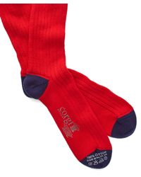 Corgi | Color Block Socks In Red for Men | Lyst