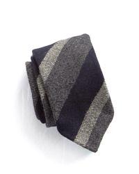 Drake's - Blue Wool Stripe Tie for Men - Lyst