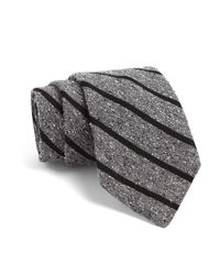 Todd Snyder | Gray Fulton Tie In Grey With Black Stripes for Men | Lyst
