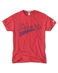 Todd Snyder Bowery T-shirt In Faded Red for men