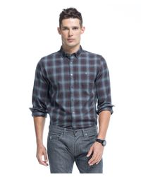 Todd Snyder Button Down Shirt In Brown Plaid Flannel for men
