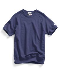 Todd Snyder - Short Sleeve Sweatshirt In Mast Blue for Men - Lyst