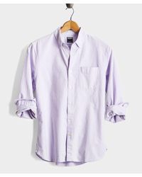 Todd Snyder Purple Japanese Selvedge Oxford Button Down Shirt for men