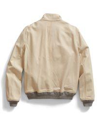 Todd Snyder Natural Ivory Leather Jacket for men