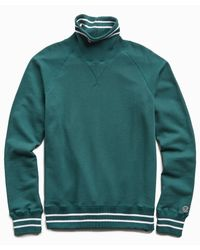 Todd Snyder Green Tipped Turtleneck Sweatshirt for men