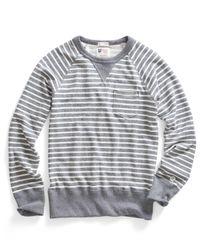 Todd Snyder - Gray Pocket Sweatshirt In Grey Heather Stripe for Men - Lyst