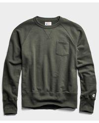 Todd Snyder Gray Midweight Pocket Sweatshirt for men