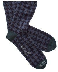 Corgi - Blue Houndstooth Socks In Navy for Men - Lyst