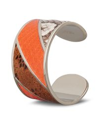 Tod's Multicolor Cuff In Metal And Python