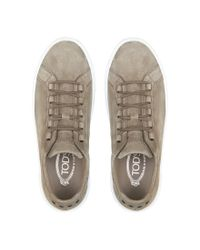 Tod's Gray Sneakers In Suede for men