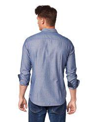 Tom Tailor Strukturiertes Hemd in Blue für Herren