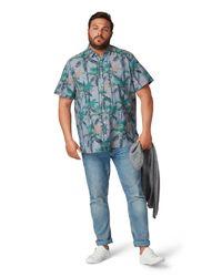 Tom Tailor DENIM Gemustertes Leinen-Hemd in Blue für Herren