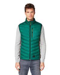 Tom Tailor Leichte Weste mit Brusttasche in Green für Herren