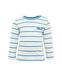 Tom Tailor Blue Baby gestreiftes Shirt mit Ziertasche
