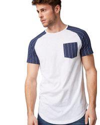 Tom Tailor DENIM T-Shirt mit Brusttasche in White für Herren