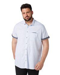 Tom Tailor White Kariertes Kurzarmhemd