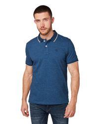 Tom Tailor Poloshirt im Melange-Look in Blue für Herren