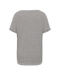 Tom Tailor White Gemustertes T-Shirt