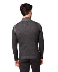 Tom Tailor Strickjacke mit Stehkragen in Gray für Herren