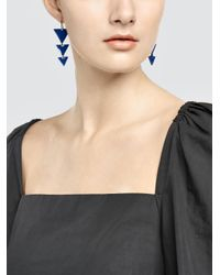 Tomas Maier - Multicolor Triangle Earrings - Lyst