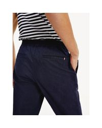 Tommy Hilfiger Gray Yarn Dyed Tapered Trousers for men