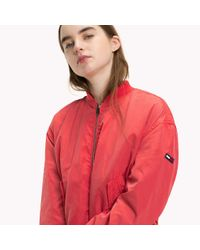 Tommy Hilfiger Red Polyester Classic Bomber