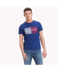 Tommy Hilfiger Blue Stripe Logo T-shirt for men