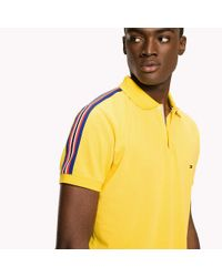 Tommy Hilfiger Yellow Stripe Regular Fit Polo for men