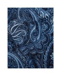 Tommy Hilfiger Blue Wool Paisley Pocket Square for men