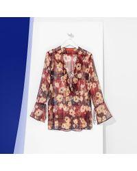 Tommy Hilfiger | Red Tommy Tartan Silk Shirt | Lyst