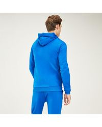 Tommy Hilfiger Blue Zip-thru Vertical Logo Hoody for men